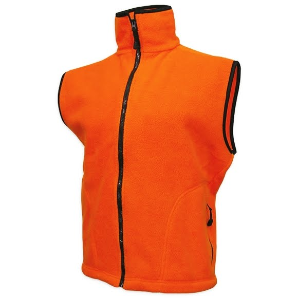 World Famous Blaze Orange Fleece Vest Image