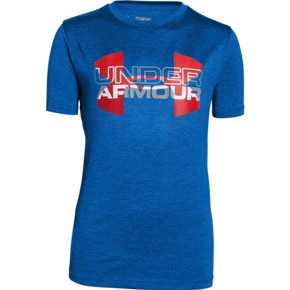 Under Armour Boy's Youth Tech Big Logo Hybrid T-Shirt Image