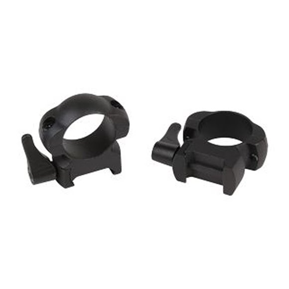 Weaver Lever-Lok 1 in. Medium Top Mount Scope Rings (Matte) Image