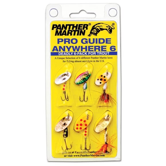 Panther Martin Pro Guide Anywhere 6 Pack Fishing Lures Image