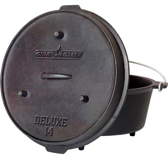 Camp Chef Cast Iron Deluxe 14 In. Dutch Oven Image