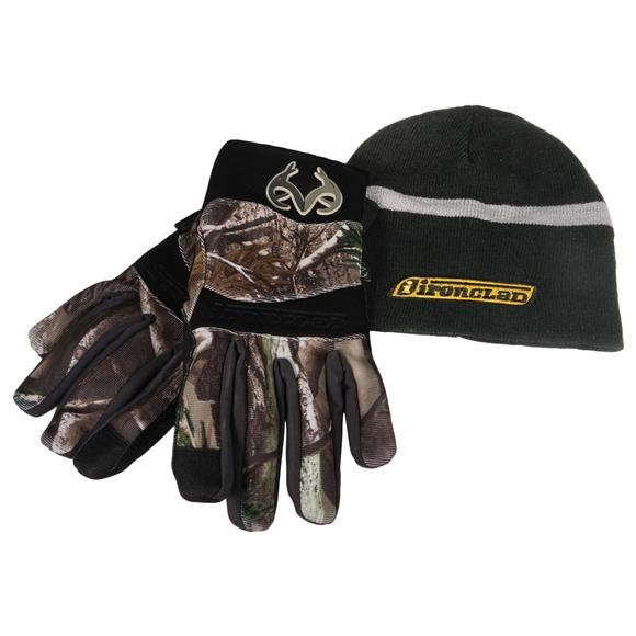 Iron Clad Cold Condition Insulated Soft Shell Gloves with Beanie Image
