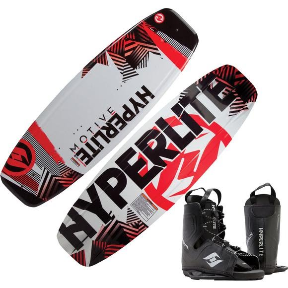 Hyperlite Motive Wakeboard with Frequency OSFA Bindings