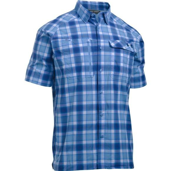 under armour men 39 s ua fish hunter plaid short sleeve shirt