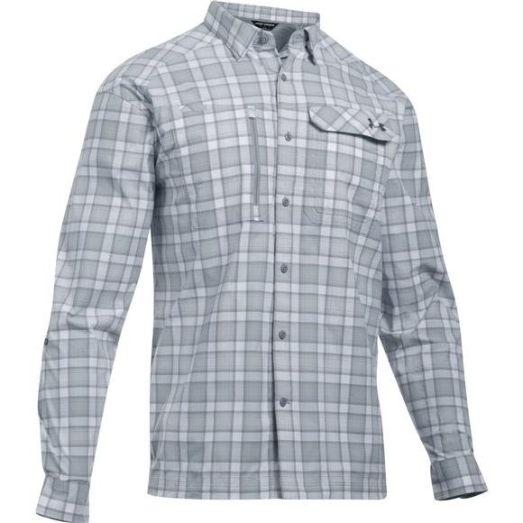 cea2e97431 Under Armour Men's UA Fish Hunter Plaid Long Sleeve Shirt
