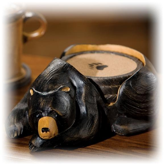 Big Sky Carvers Bear Coaster Set Image