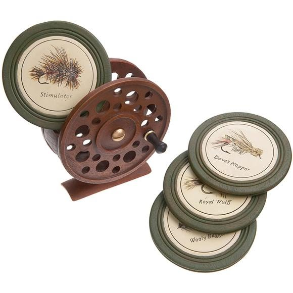 Big Sky Carvers Fly Reel Coaster Set Image
