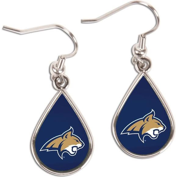Wincraft Montana State Bobcats Tear Drop Earrings Image