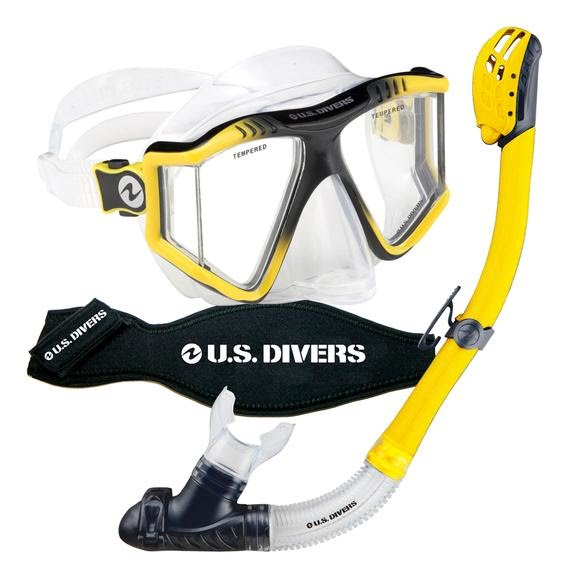 Us Divers Lux LX Purge Mask and Phoenix LX Snorkel Combo Image