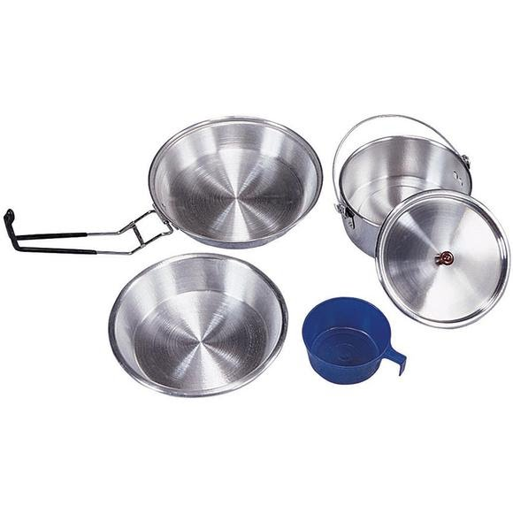 Stansport 1 Person Polished Aluminum Mess Kit Image
