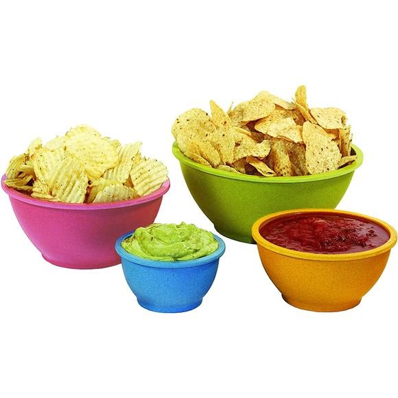 Texsport 4 Piece Bamboo Bowl Set Image
