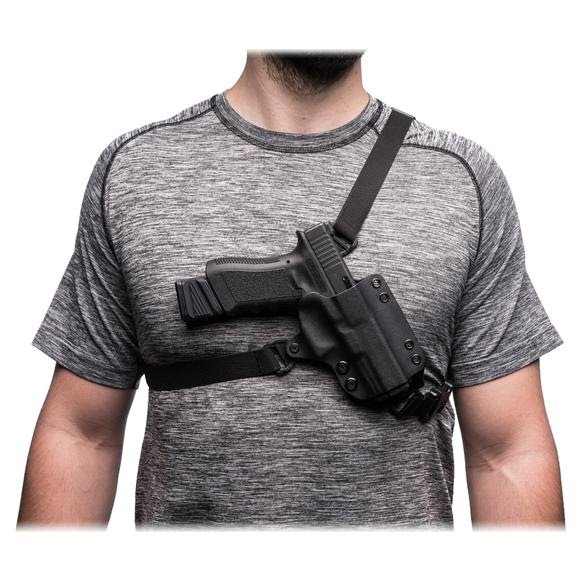 Blackpoint Outback Chest System Holster Right Handed Black (Glock 20, 21)