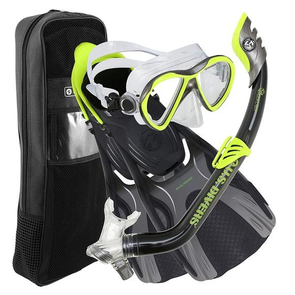 Us Divers Youth Flare Jr LX Mask, Pipper Snorkel and Minnow Fins Image