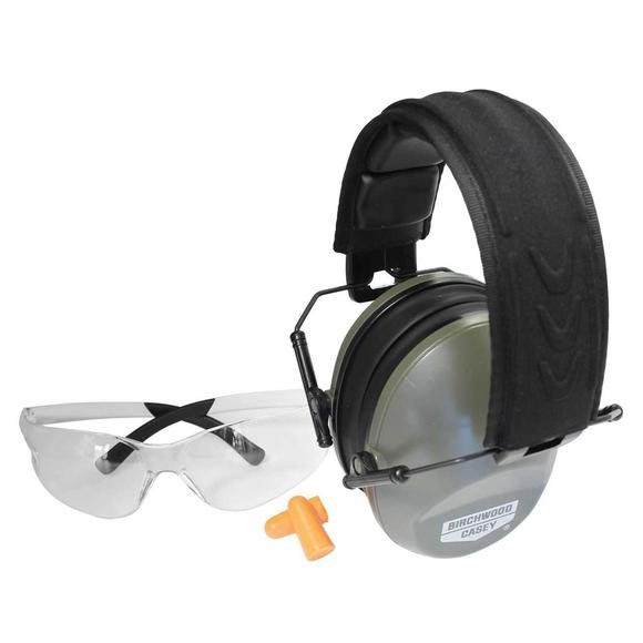 Birchwood Casey Krest 24 Muffs and Vector Eye Ear Protection Combo Kit Image