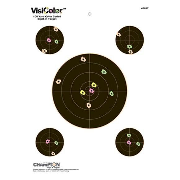 Champion VisiColor Sight-In with Four Extra Bulls Targets Image