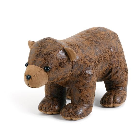 Big Sky Carvers Faux Leather Bear Door Stop Image