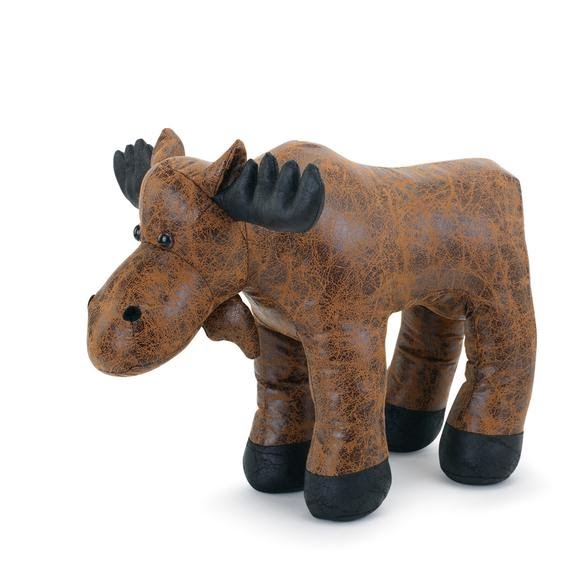 Big Sky Carvers Faux Leather Moose Door Stop Image