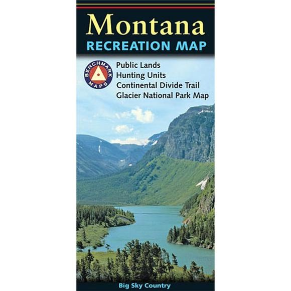 Benchmark Maps Montana Recreation Map Image