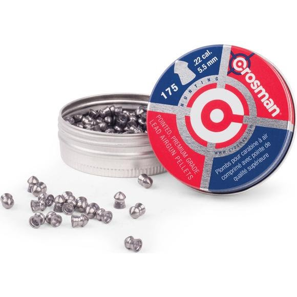 Crosman .22 Pointed 14.3gr Premier Pellets (175ct) Image