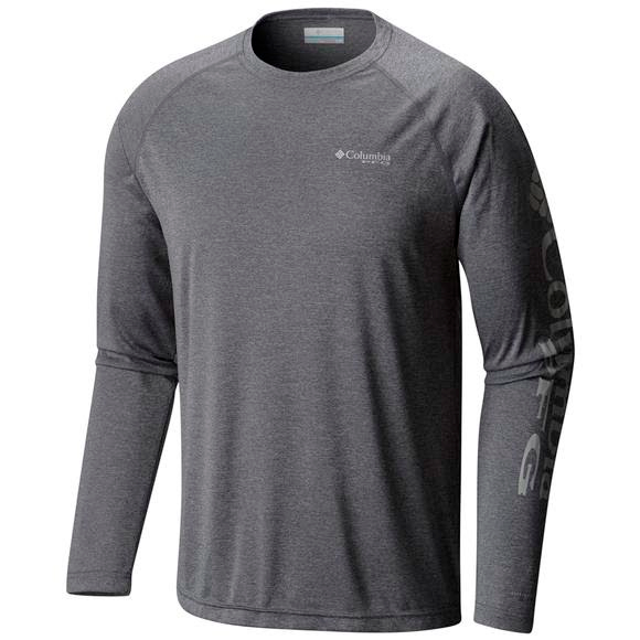Columbia Men's Terminal Tackle Heather Long Sleeve Shirt (Extended Sizes) Image