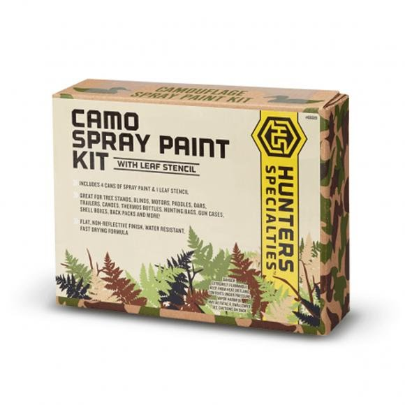 Hunter Specialties Camo Spray Paint Kit with Leaf Stencil Image