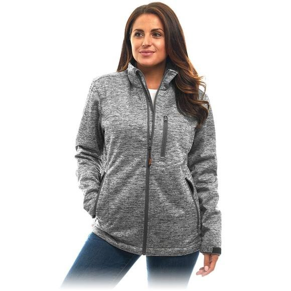 Trail Crest Women's Heather Waterproof Breathable XRG Soft Shell Jacket Image