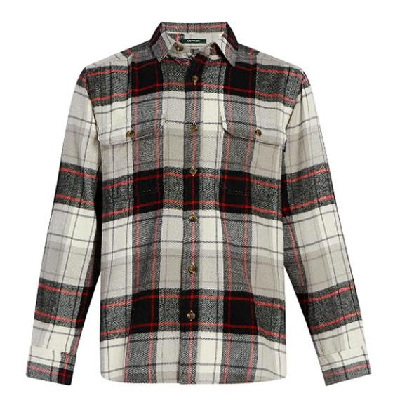 Woolrich Men's Oxbow Bend Plaid Flannel Shirt: Modern Fit Image