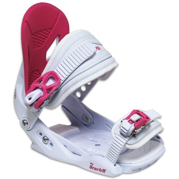 Capix Girls Youth Scarlet Snowboard Bindings Image