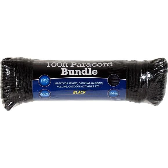 Sona Enterprises 100ft Black Paracord Bundle Image