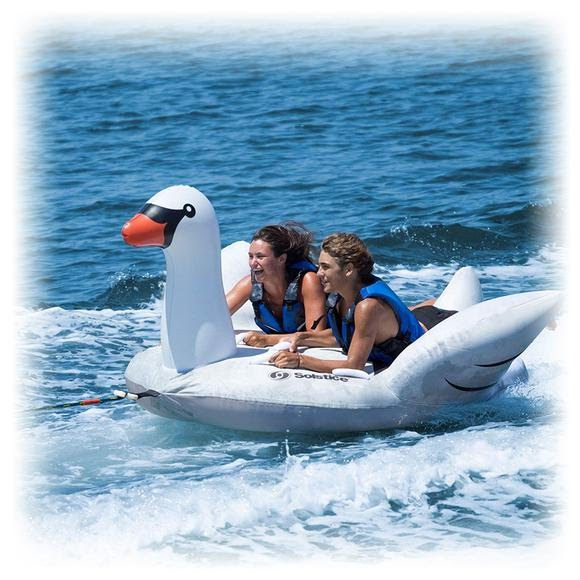 Solstice Swan Lay-On Towable Image