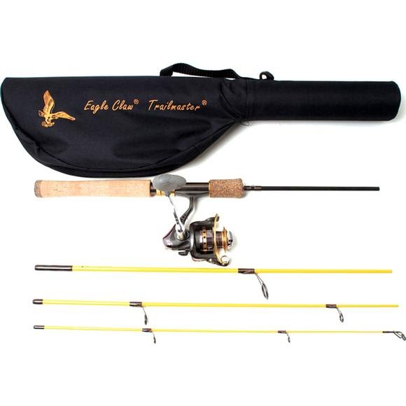 Eagle Claw Trailmaster 6ft, 6in, 4-Piece Spinning Combo Image