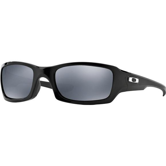 Oakley Fives Squared Sunglasses (Polished Black/Black Iridium Polarized) Image