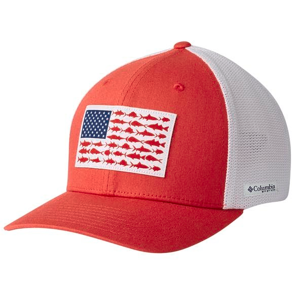 ddeebbc6a5f6b Columbia Men s PFG Mesh Snap Back Fish Flag Ball Cap Image
