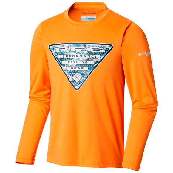 Columbia Youth Boy's Terminal Tackle Triangle Fill Long Sleeve Shirt Image