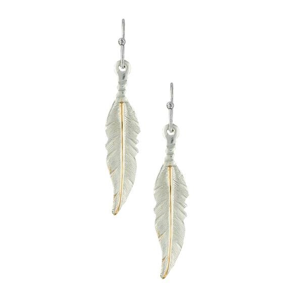 Montana Silversmiths Dream Feathers Dangle Earrings Image