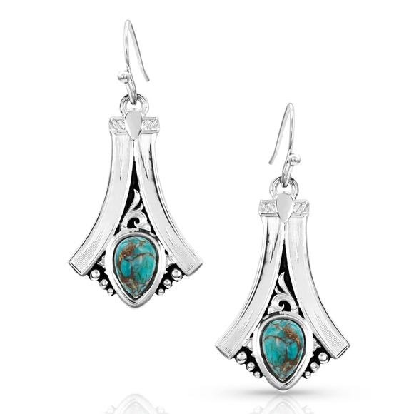 Montana Silversmiths Gracefully Yours Turquoise Earrings Image