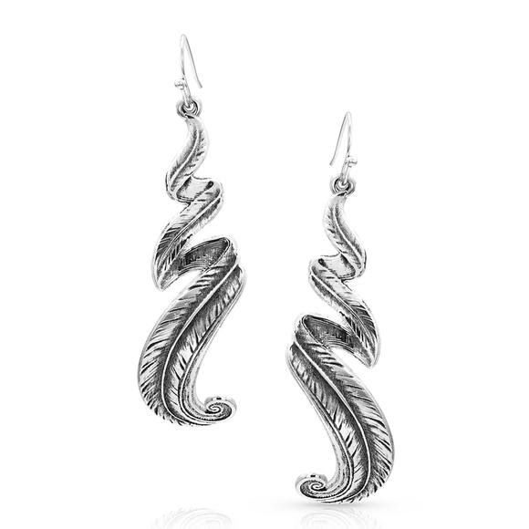 Montana Silversmiths Free Spirit Feather Earrings Image