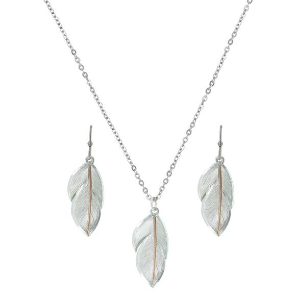 Montana Silversmiths Downy Feather Jewelry Set Image