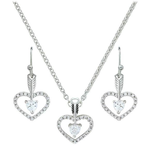Montana Silversmiths Straight to the Heart Arrow Jewelry Set Image