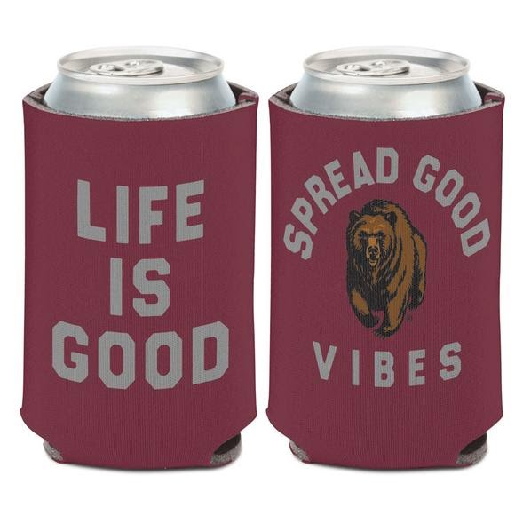 Wincraft Life Is Good University of Montana Grizzlies Can Cooler Image