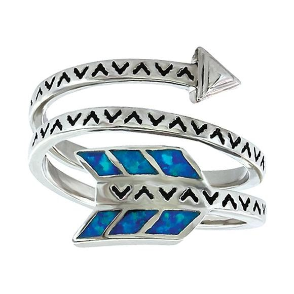 Montana Silversmiths Sky Fletched Arrow Ring Image