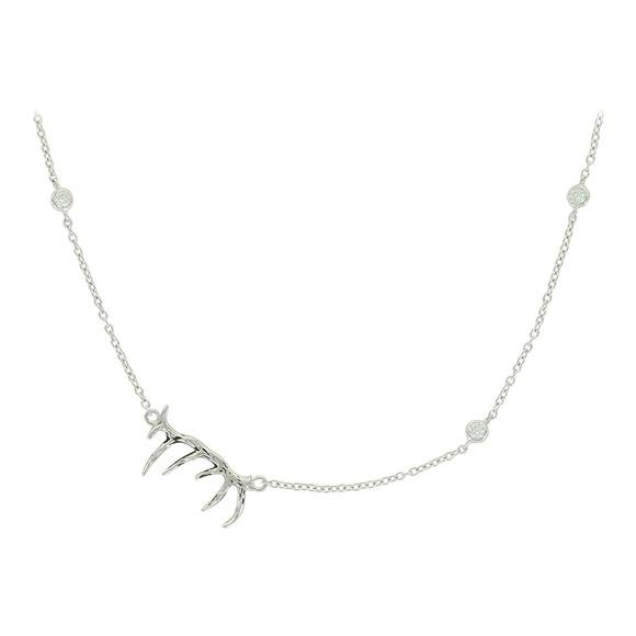 Montana Silversmiths Pursue the Wild Starry Antler's Grace Necklace Image