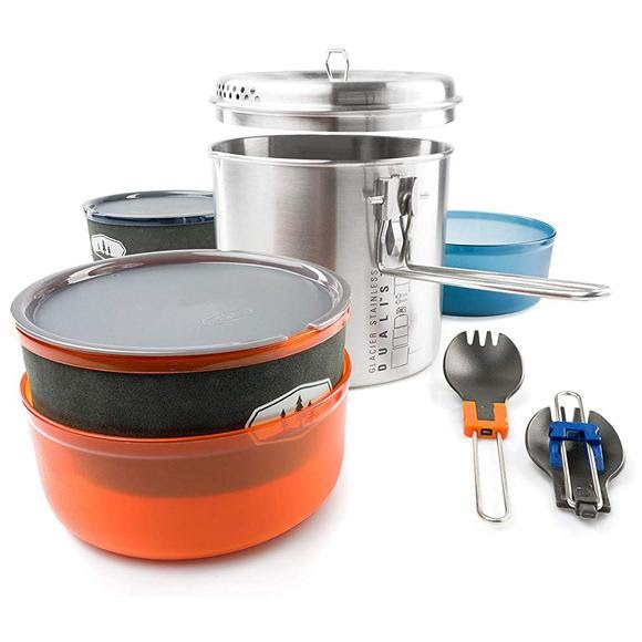 Gsi Outdoors Glacier Stainless Dualist II Cookware Set Image