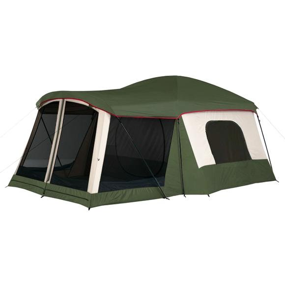 World Famous Green Goliath Cabin Tent with Screen House Image