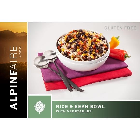 Alpine Aire Foods Rice and Beans Bowl with Vegetables Image