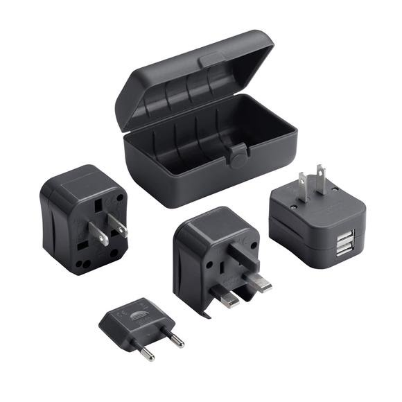 Lewis N. Clark Adapter Plug Kit with Dual USB Charger Image