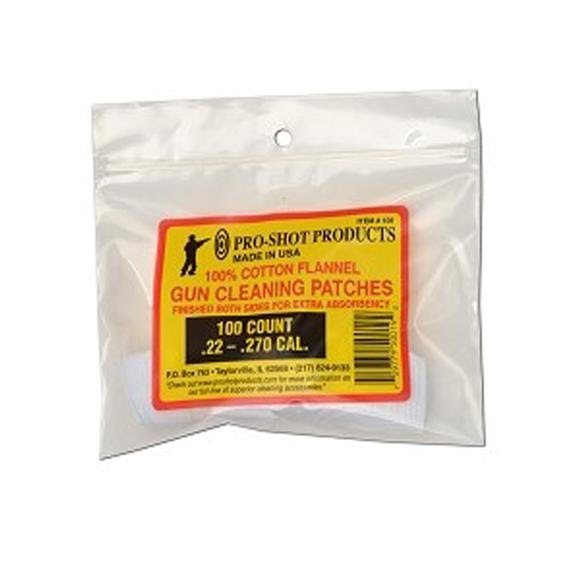 Pro-shot .22-.270 Cal. Patches (100 Count) Image