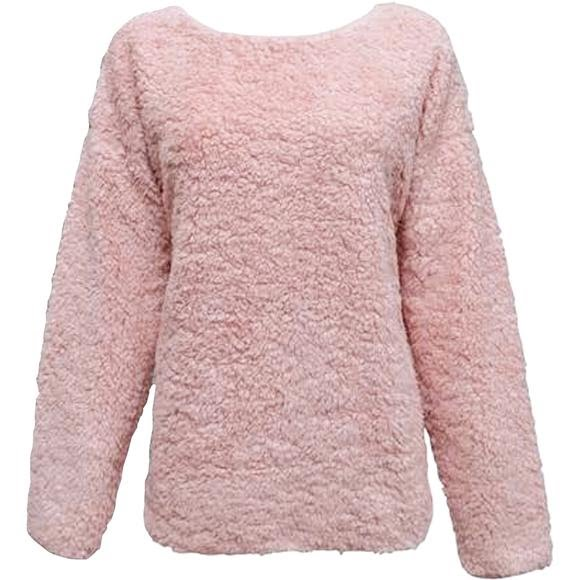 Pacific Teaze Women's Super Soft Sherpa Crew Image