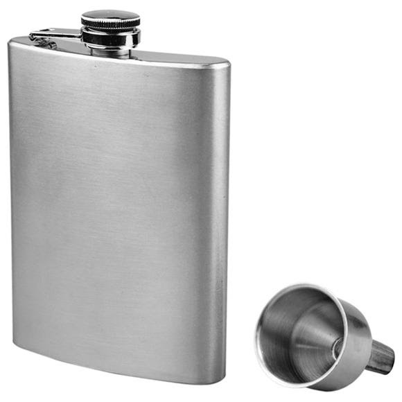 Sona Enterprises 8oz Stainless Steel Hip Flask and Funnel Set Image