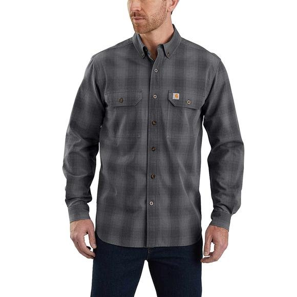 Carhartt Men's Fort Plaid Long Sleeve Shirt Image